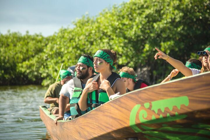 Parque Maya: Mangrove Cruise, Lunch and Activity Course Cancun