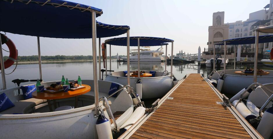 Eco Donut Boat Rental in Abu Dhabi