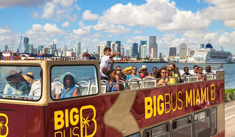 Hop-On Hop-Off Big Bus Miami One-Day All-Loops Tour