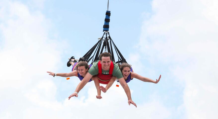 SkyCoaster at Fun Spot America
