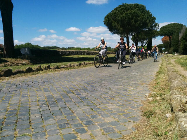 Ancient Via Appia Antica by Bike