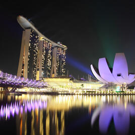 Scene of Marina Bay at night